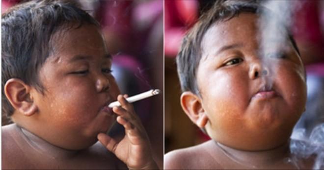 Emlékszel még a kis srácra aki napi 40 szál cigarettát szívott el?