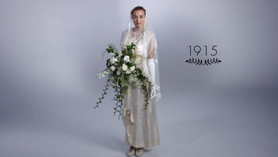 Az elmúlt 100 év menyasszonyi divatja!