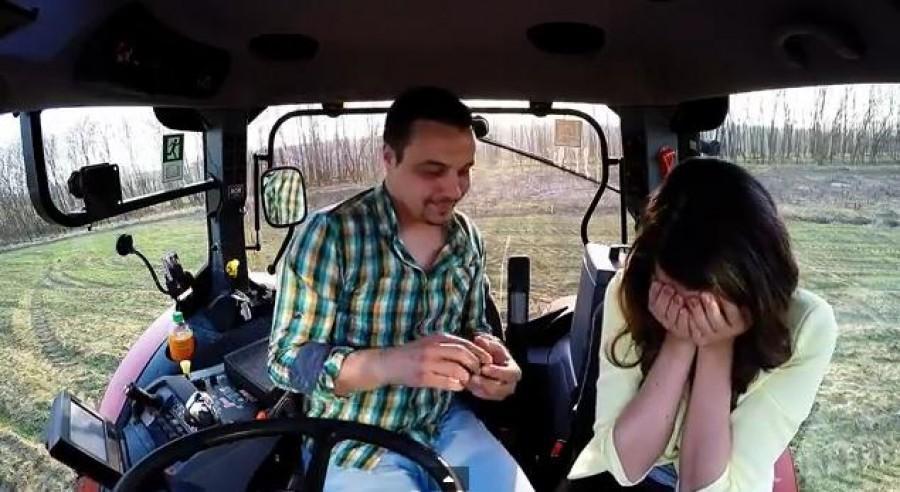 Látta már a megható Magyar traktoros leánykérést?(VIDEO)