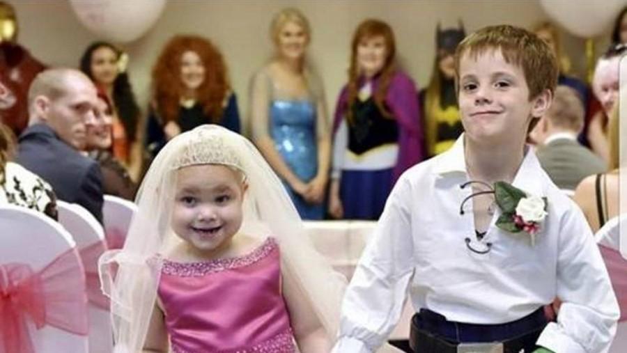 Ennek az 5 éves kislánynak esküvőt rendeztek, mikor megtudtuk miért...