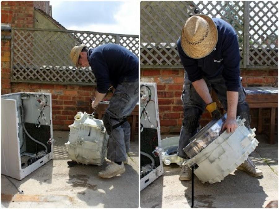 Nem hiszed el, hogy mit csinált a rossz mosógépéből!