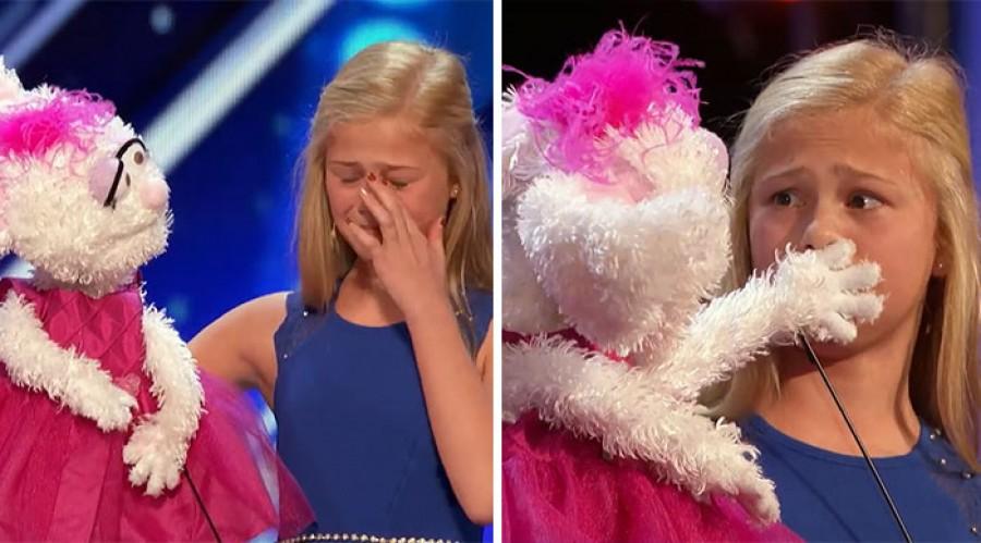 Amit ez a kislány a színpadon művelt attól szem nem maradt szárazon!